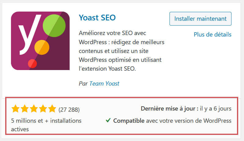 Exemple plugin Yoast
